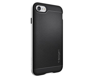 Чехол-накладка для  iPhone 7/8/SE - Spigen Neo Hybrid - Satin Silver (SGP-042CS20520) - фото 5