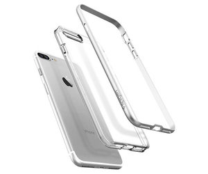 Чехол-накладка для  iPhone 7 Plus/8 Plus - Spigen Neo Hybrid Crystal - Satin Silver (SGP-043CS20684) - фото 2