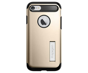 Чехол-накладка для  iPhone 7/8/SE - Spigen Slim Armor - Champagne Gold (SGP-042CS20302) - фото 5