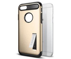 Чехол-накладка для  iPhone 7/8/SE - Spigen Slim Armor - Champagne Gold (SGP-042CS20302) - фото 2