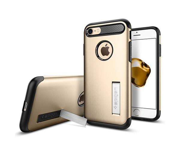 Чехол-накладка для  iPhone 7/8 - Spigen Slim Armor - Champagne Gold (SGP-042CS20302)