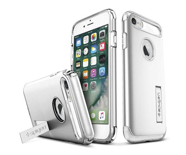 Чехол-накладка для  iPhone 7/8/SE - Spigen Slim Armor - Satin Silver (SGP-042CS20305)