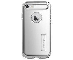 Чехол-накладка для  iPhone 7/8/SE - Spigen Slim Armor - Satin Silver (SGP-042CS20305) - фото 2