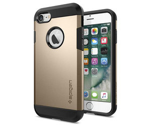 Чехол-накладка для  iPhone 7/8/SE - Spigen Tough Armor - Champagne Gold (SGP-042CS20490) - фото 1