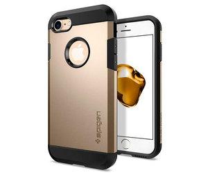 Чехол-накладка для  iPhone 7/8/SE - Spigen Tough Armor - Champagne Gold (SGP-042CS20490)