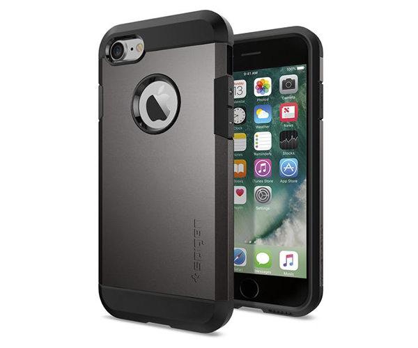 Чехол-накладка для  iPhone 7/8 - Spigen Tough Armor - Gun Metal (SGP-042CS20489)