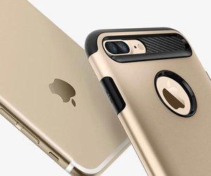 Чехол-накладка для  iPhone 7 Plus/8 Plus - Spigen Slim Armor - Champagne Gold (SGP-043CS20310) - фото 8