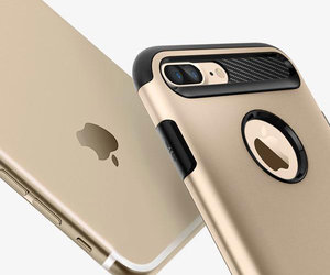 Чехол-накладка для  iPhone 7 Plus/8 Plus - Spigen Slim Armor - Champagne Gold (SGP-043CS20310) - фото 8