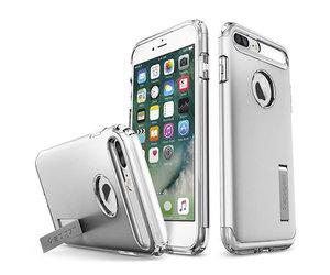 Чехол-накладка для  iPhone 7 Plus/8 Plus - Spigen Slim Armor - Satin Silver (SGP-043CS20313) - фото 1