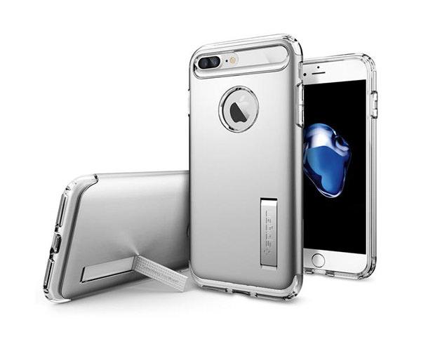 Чехол-накладка для  iPhone 7 Plus/8 Plus - Spigen Slim Armor - Satin Silver (SGP-043CS20313)