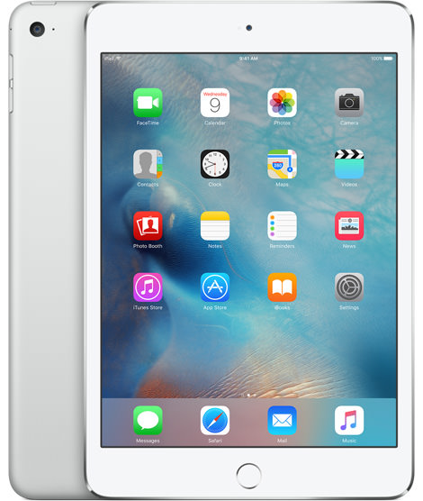 Apple iPad mini 4 Wi-Fi 16GB Silver (MK6K2)