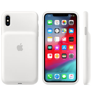 Чехол для iPhone XS Max - Apple Smart Battery Case - White (MRXR2) - фото 1