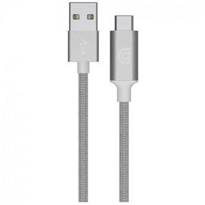 Кабель Griffin Premium Braided USB-A to USB-C - 1m - Silver (GP-005-SLV)