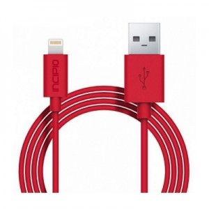 Кабель Incipio Charge/Sync Cable with Lightning Connector, 1M - Red - PW-184