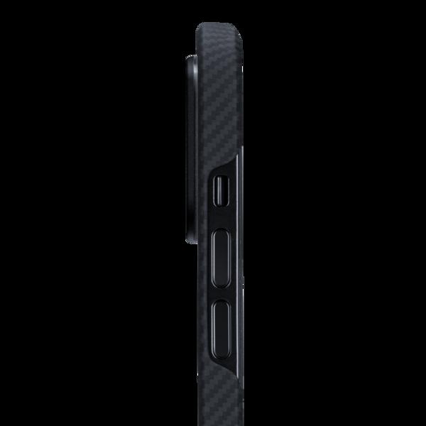 Чехол-накладка для iPhone 12 Pro Max - Pitaka Air Case Twill - Black/Grey (KI1201PMA)