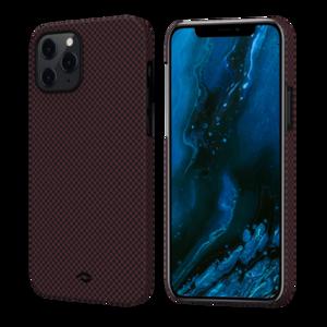 Чехол-накладка для iPhone 12 Pro Max - Pitaka MagEZ Case Twill Black/Red (KI1203PM)