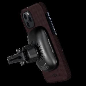 Чехол-накладка для iPhone 12 Pro Max - Pitaka MagEZ Case Twill Black/Red (KI1203PM) - фото 3