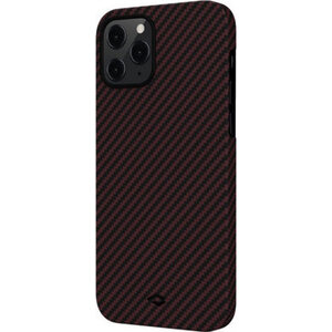 Чехол-накладка для iPhone 12 Pro Max - Pitaka MagEZ Case Twill Black/Red (KI1203PM) - фото 4