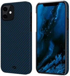 Чехол-накладка для iPhone 12 Pro - Pitaka MagEZ Case Twill - Black/Blue (KI1208P)
