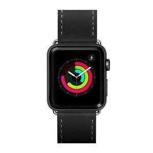 Ремешок из кожи Laut SAFARI для Apple Watch 42/44 мм - Black (LAUT_AWL_SA_BK)