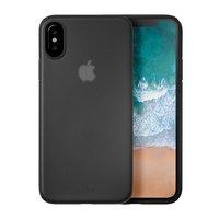 Чехол-накладка для iPhone X - LAUT Slimskin - Black (LAUT_IP8_SS_BK)