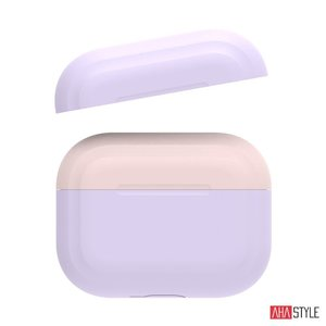 Чехол AHASTYLE Two Color Silicone Case for Apple AirPods Pro – Lavender/Pink (AHA-0P200-LLP)