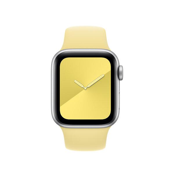 Ремешок для Apple Watch 38/40 mm - Apple Sport Band - S/M & M/L - Lemon Cream (MWUU2)