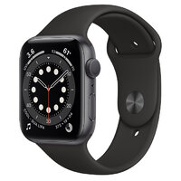 Apple Watch Series 6 GPS 44mm Space Gray Aluminium Case with Black Sport Band (M00H3)