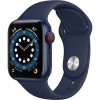 Apple Watch Series 6 LTE 40mm Blue Aluminum Case with Deep Navy Sport Band (M02R3)