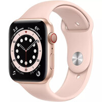 Apple Watch Series 6 LTE 44mm Gold Aluminum Case with Pink Sand Sport Band (M07G3)
