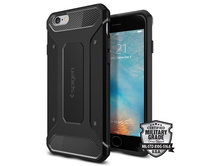 Чехол-накладка для iPhone 6/6s - Spigen Rugged Armor - Black (SGP11597)