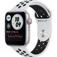 Apple Watch Nike SE LTE 44mm Silver Aluminium Case w. Pure Platinum/Black Nike Sport (MG043)