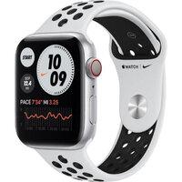 Apple Watch Nike Series 6 LTE 44mm Silver Aluminium Case with Pure Platinum/Black Sport B (MG2G3)