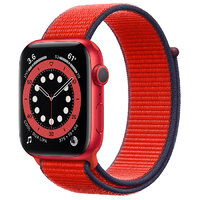 Apple Watch Series 6 GPS 44mm (PRODUCT)RED Aluminum Case with (PRODUCT)RED Sport Loop (M02H3)