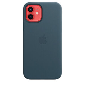 Чехол-накладка для iPhone 12/12 Pro - Apple Leather Case with MagSafe - Baltic Blue (MHKE3) - фото 2