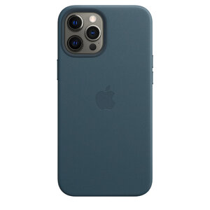 Чехол-накладка для iPhone 12 Pro Max - Apple Leather Сase with MagSafe - Baltic Blue (MHKK3) - фото 2