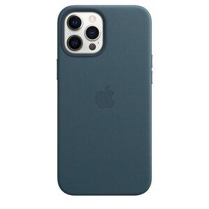 Чехол-накладка для iPhone 12 Pro Max - Apple Leather Сase with MagSafe - Baltic Blue (MHKK3) - фото 3