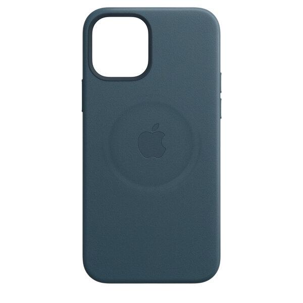 Чехол-накладка для iPhone 12 Pro Max - Apple Leather Сase with MagSafe - Baltic Blue (MHKK3)