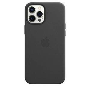 Чехол-накладка для iPhone 12 Pro Max - Apple Leather Case with MagSafe - Black (MHKM3) - фото 3