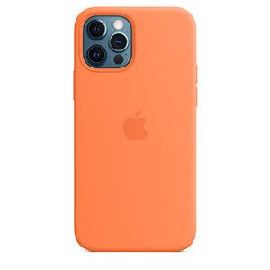 Чехол-накладка для iPhone 12/12 Pro - Apple Silicone Case with MagSafe - Kumquat (MHKY3) - фото 5