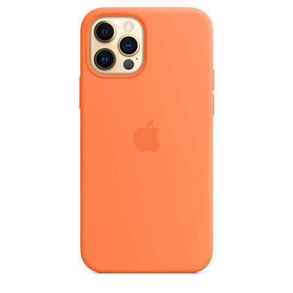 Чехол-накладка для iPhone 12/12 Pro - Apple Silicone Case with MagSafe - Kumquat (MHKY3)