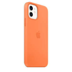 Чехол-накладка для iPhone 12/12 Pro - Apple Silicone Case with MagSafe - Kumquat (MHKY3) - фото 8