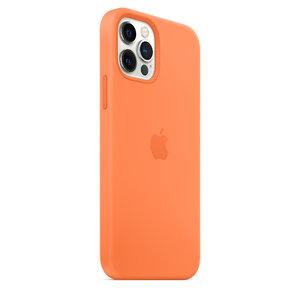 Чехол-накладка для iPhone 12/12 Pro - Apple Silicone Case with MagSafe - Kumquat (MHKY3) - фото 9