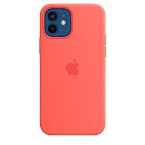 Чехол-накладка для iPhone 12/12 Pro - Apple Silicone Case with MagSafe - Pink Citrus (MHL03)