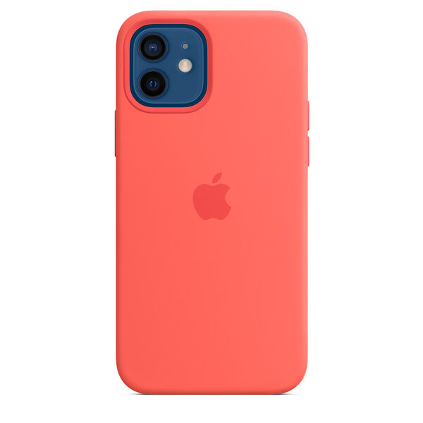 Чехол-накладка для iPhone 12/12 Pro - Apple Silicone Case with MagSafe - Pink Citrus (MHL03)