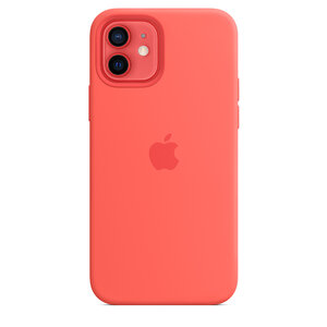 Чехол-накладка для iPhone 12/12 Pro - Apple Silicone Case with MagSafe - Pink Citrus (MHL03) - фото 3