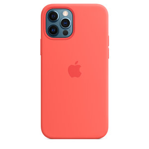 Чехол-накладка для iPhone 12/12 Pro - Apple Silicone Case with MagSafe - Pink Citrus (MHL03) - фото 5
