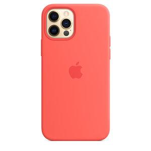 Чехол-накладка для iPhone 12/12 Pro - Apple Silicone Case with MagSafe - Pink Citrus (MHL03) - фото 6