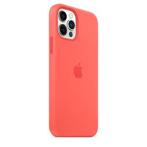 Чехол-накладка для iPhone 12/12 Pro - Apple Silicone Case with MagSafe - Pink Citrus (MHL03) - фото 9