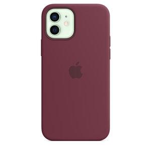 Чехол-накладка для iPhone 12/12 Pro - Apple Silicone Case with MagSafe - Plum (MHL23) - фото 2